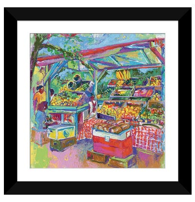 Fruit Market Framed Art Print