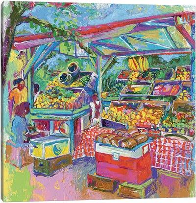 Fruit Market Canvas Print #RWA61