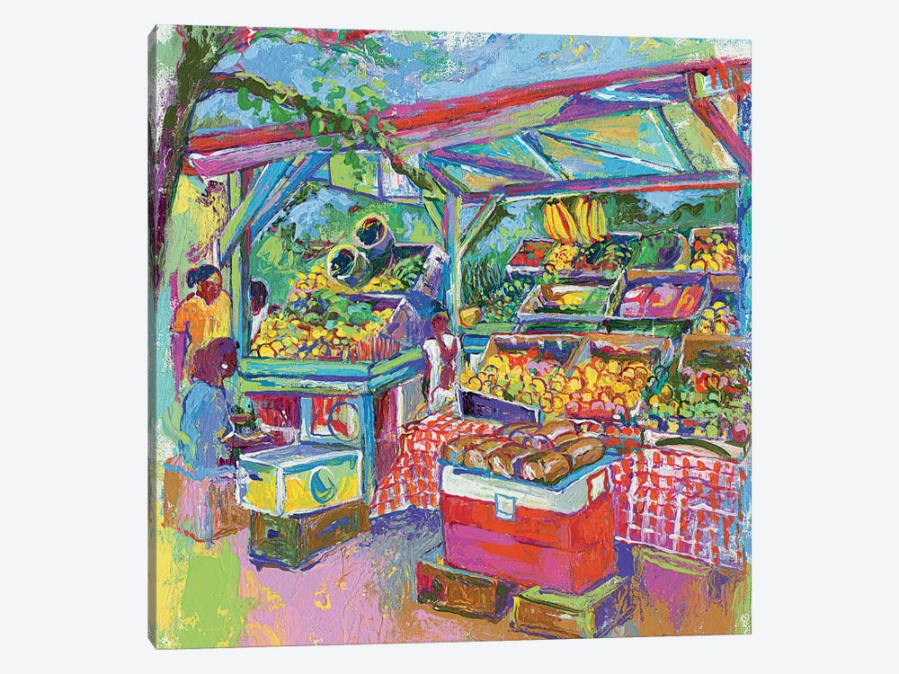 Fruit Market by Richard Wallich 1-piece Art Print
