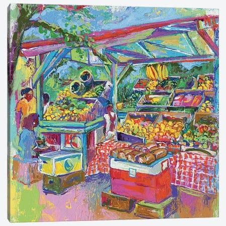 Fruit Market Canvas Print #RWA61} by Richard Wallich Canvas Wall Art