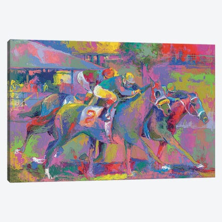 Horse Race I Canvas Print #RWA83} by Richard Wallich Canvas Art