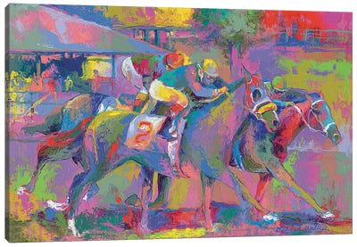 Horse Race I Canvas Art Print