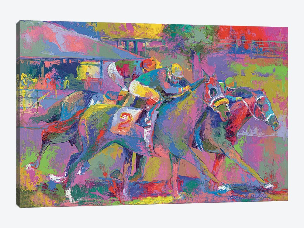 Horse Race I by Richard Wallich 1-piece Canvas Art Print