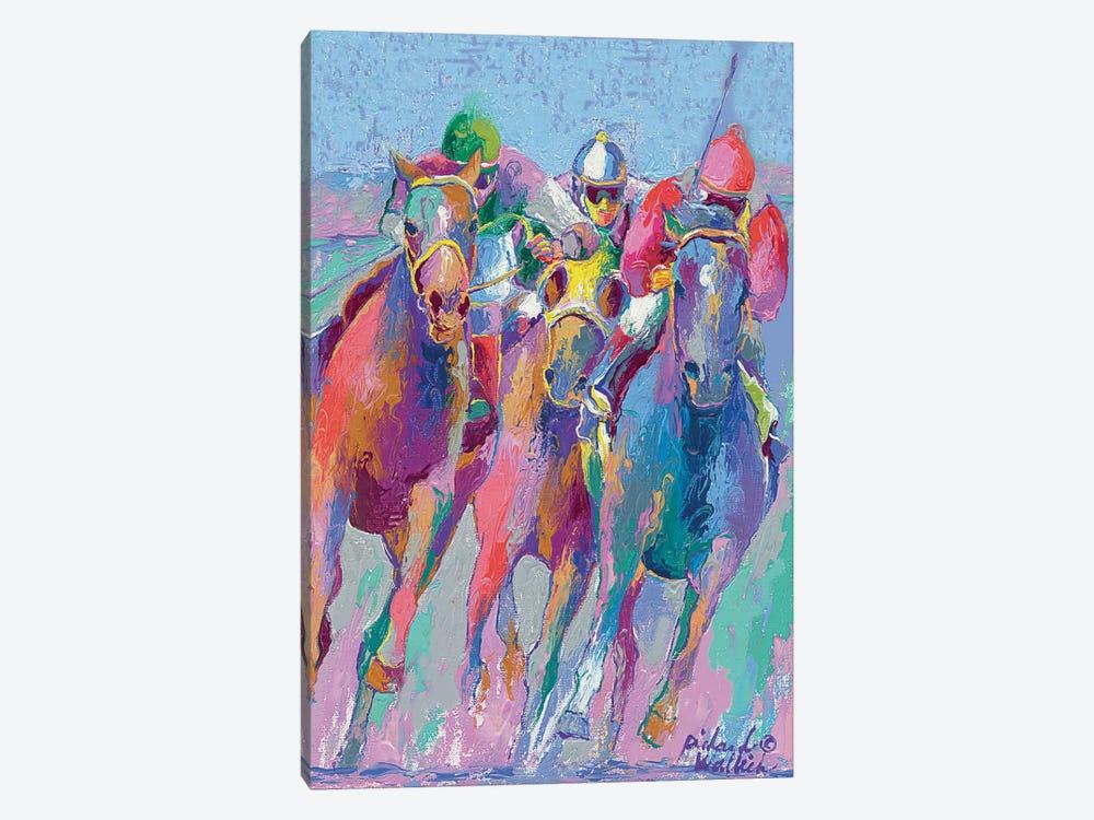 Horse Race II by Richard Wallich 1-piece Canvas Wall Art