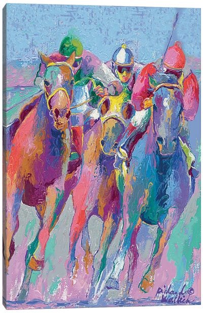 Horse Race II Canvas Art Print