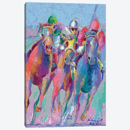 Horse Race II Canvas Print #RWA84} by Richard Wallich Canvas Art Print