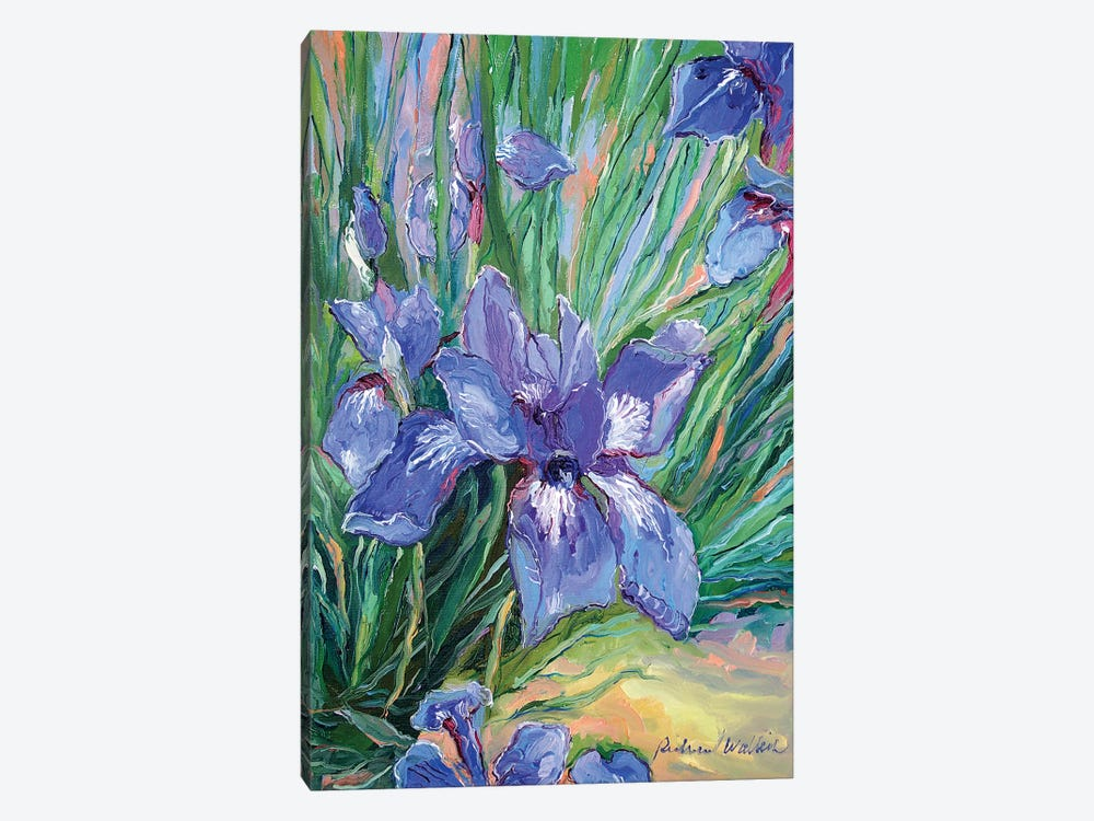 Iris by Richard Wallich 1-piece Canvas Art