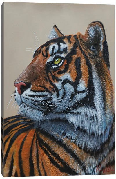Eye Of The Tiger King. Canvas Art Print