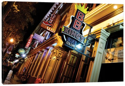 Neon Signs Along 2nd Avenue, The DISTRICT, Nashville, Davidson County, Tennessee, USA Canvas Art Print