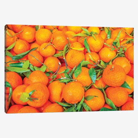 Oranges Displayed In Market In Shepherd'S Bush, London, U.K. Canvas Print #RWR6} by Richard Wright Canvas Wall Art