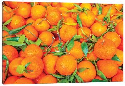 Oranges Displayed In Market In Shepherd'S Bush, London, U.K. Canvas Art Print