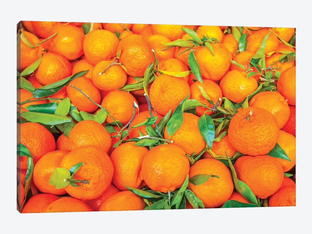 Oranges Displayed In Market In Shepherd'S Bush, London, U.K. by Richard Wright 1-piece Canvas Art Print