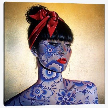 Porcelain 3-Piece Canvas #RXP14} by Roxy Peroxyde Canvas Art Print