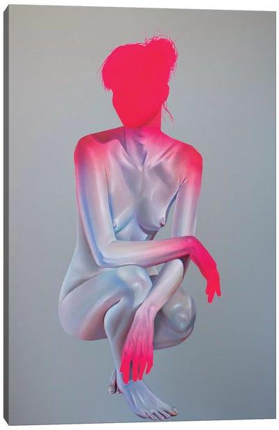 Girl On Grey II Canvas Art Print