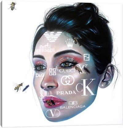 Honey Bees Canvas Art Print