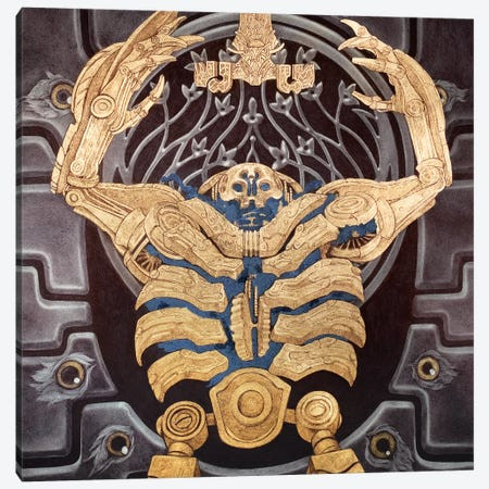 Hellboy 2: Golden Army 3-Piece Canvas #RYA14} by Rebecca Yanovskaya Art Print