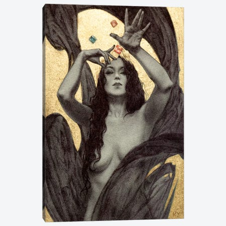 Queen Canvas Print #RYA23} by Rebecca Yanovskaya Art Print