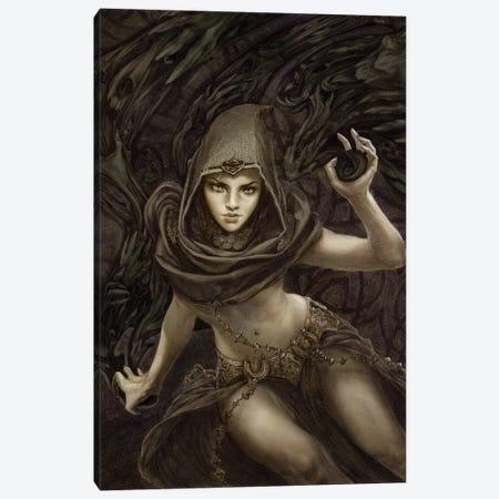 Black Magic Canvas Print #RYA2} by Rebecca Yanovskaya Art Print
