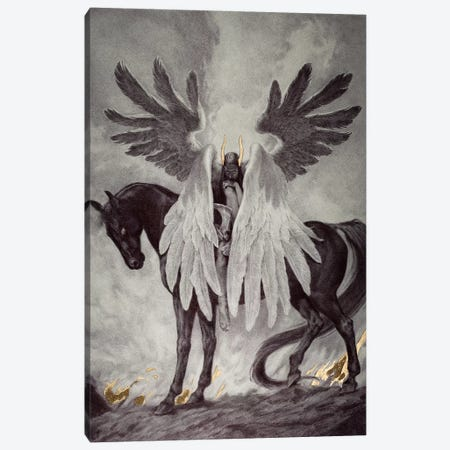 Death Dealer Canvas Print #RYA7} by Rebecca Yanovskaya Canvas Art
