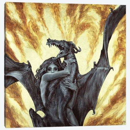Dragonae Canvas Print #RYA9} by Rebecca Yanovskaya Art Print
