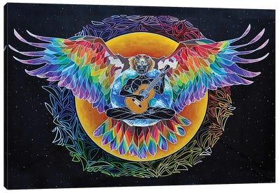 Rainbow Eagle Heart Canvas Art Print