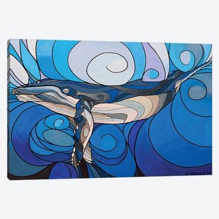 Whale Interbeing Canvas Print #RYB39} by Ryan Blume Canvas Art Print