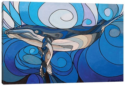 Whale Interbeing Canvas Art Print