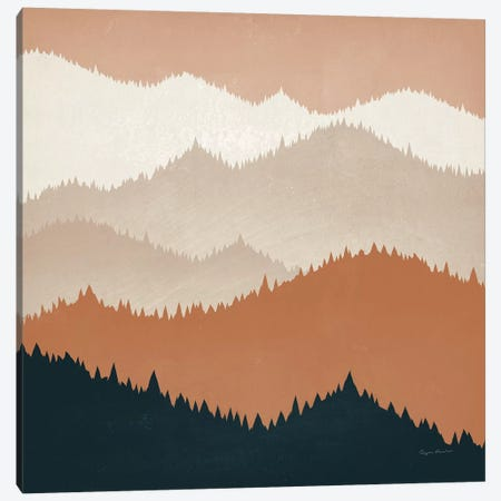 Mountain View Terra Cotta Canvas Print #RYF6} by Ryan Fowler Art Print