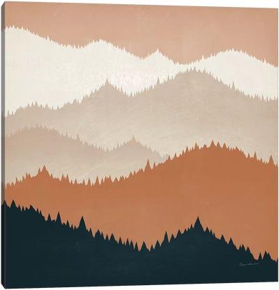 Mountain View Terra Cotta Canvas Art Print