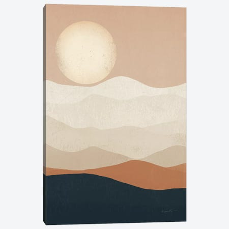 Mojave Mountains and Moon Landscape Canvas Print #RYF7} by Ryan Fowler Canvas Print