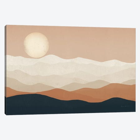 Mojave Mountains and Moon Portrait Canvas Print #RYF8} by Ryan Fowler Canvas Artwork