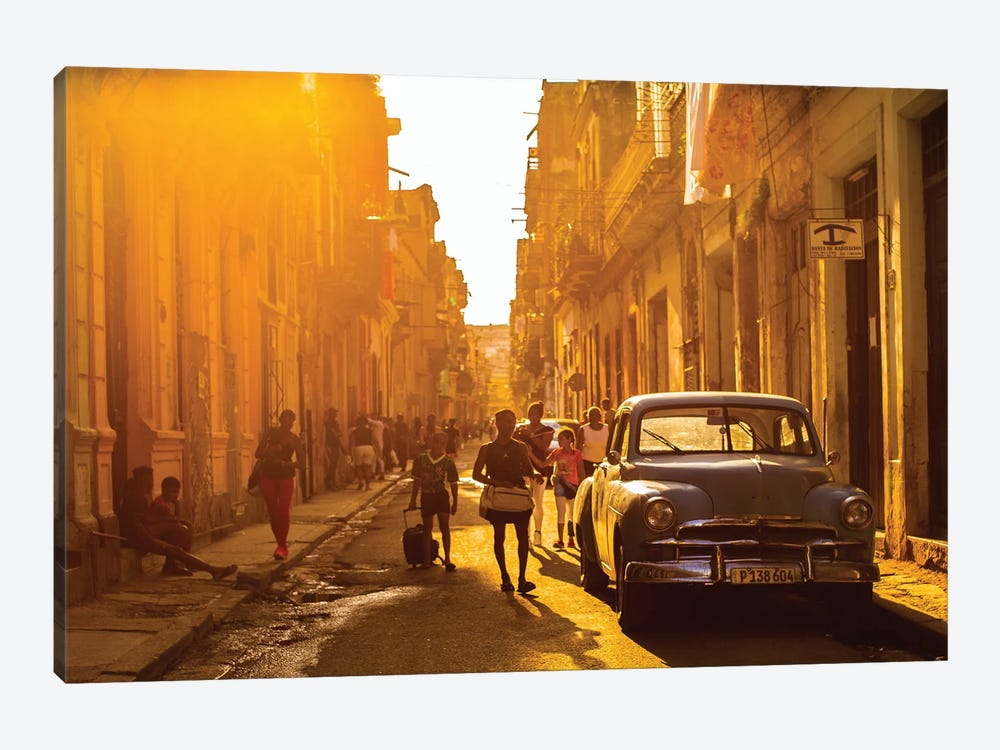 Another Street Scene In Havana by Robin Yong 1-piece Canvas Wall Art