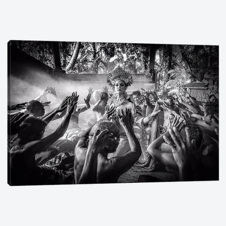 Kecak Dancing - The Ramayana Monkey Chant Canvas Print #RYG1} by Robin Yong Art Print