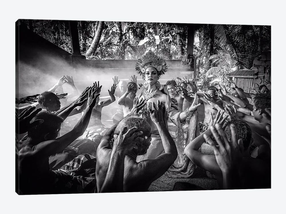 Kecak Dancing - The Ramayana Monkey Chant by Robin Yong 1-piece Canvas Wall Art