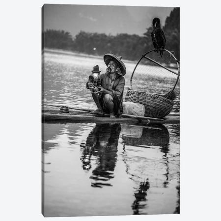 Cormorant Fisherman III Canvas Print #RYG33} by Robin Yong Canvas Art