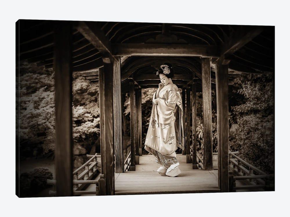 Geisha Sepia Photo by Robin Yong 1-piece Canvas Art Print