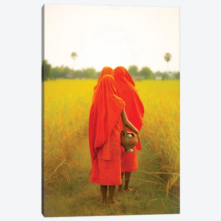 Cambodian Monks Canvas Print #RYG4} by Robin Yong Canvas Wall Art