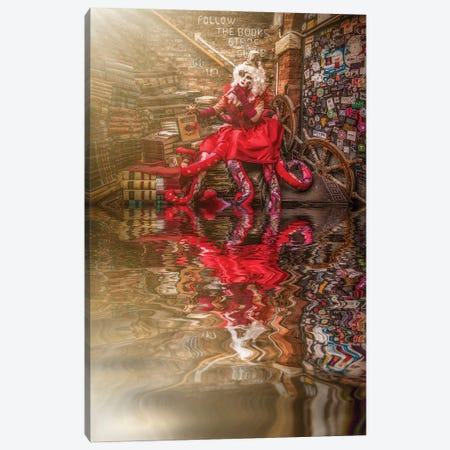 The Return Of Lady Octopus Canvas Print #RYG8} by Robin Yong Art Print