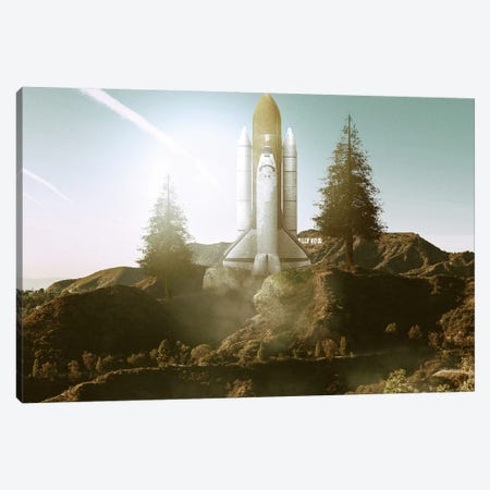 Launch Day Canvas Print #RYK15} by Shaun Ryken Art Print