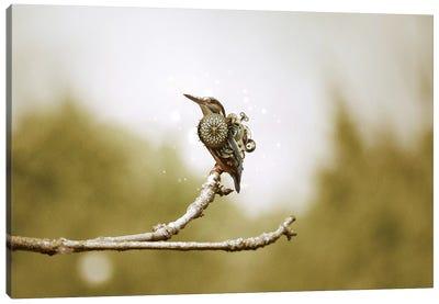 Mechanical Hummingbird Canvas Art Print