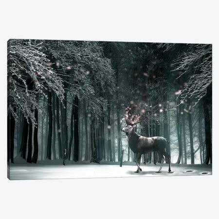 Oh Deer 3-Piece Canvas #RYK20} by Shaun Ryken Canvas Art Print