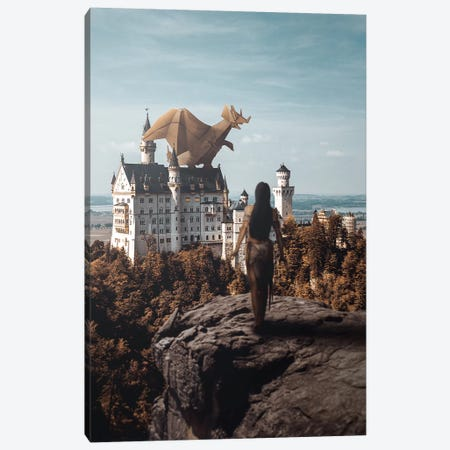 Paper Dragon Canvas Print #RYK22} by Shaun Ryken Canvas Print