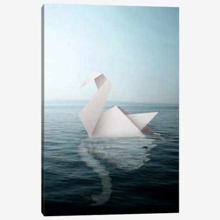 Paper Swan Canvas Print #RYK23} by Shaun Ryken Art Print