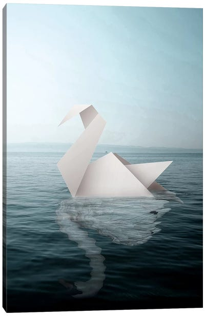 Paper Swan Canvas Art Print