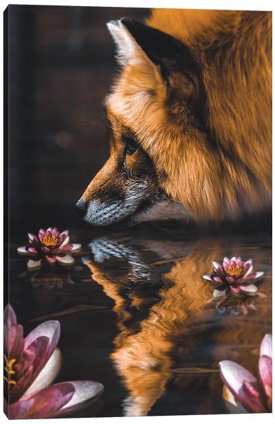 Fox Flower Canvas Art Print