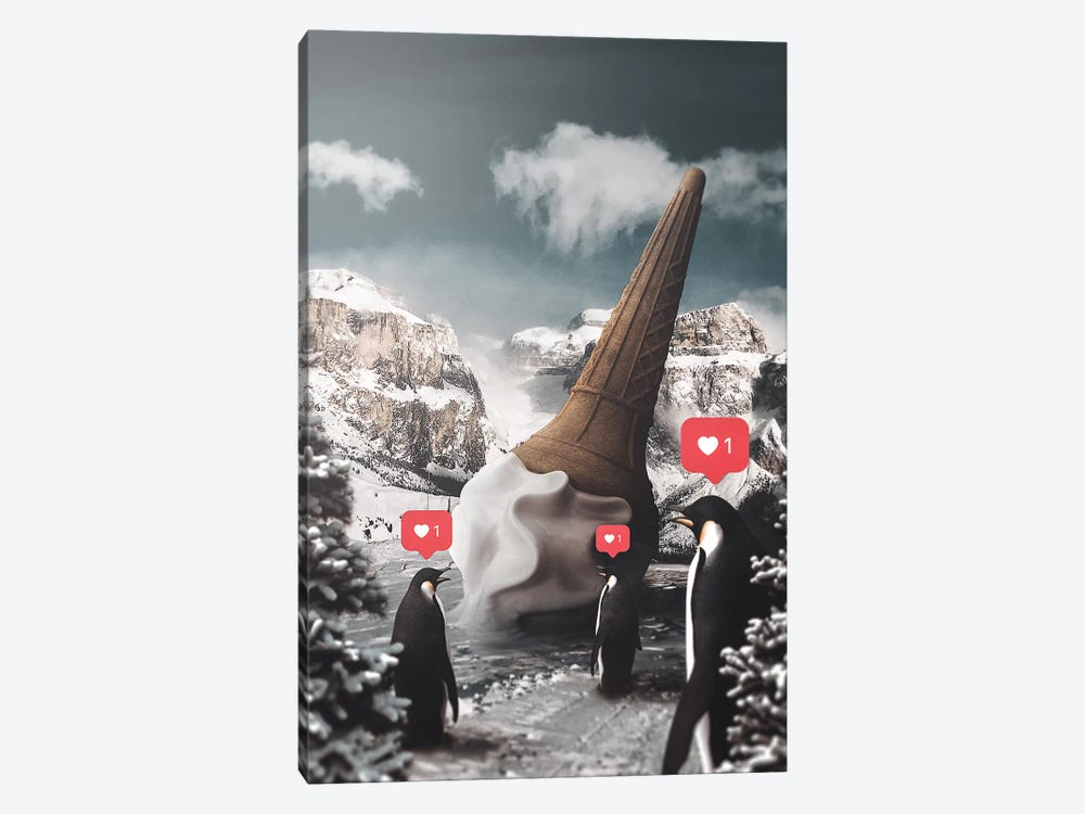 Ice Cream Penguins by Shaun Ryken 1-piece Canvas Art Print