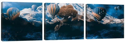 Great Lengths Triptych Canvas Art Print