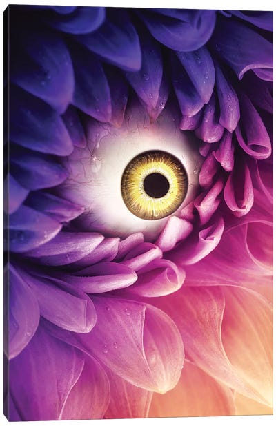 Purple Crying Flower Canvas Art Print