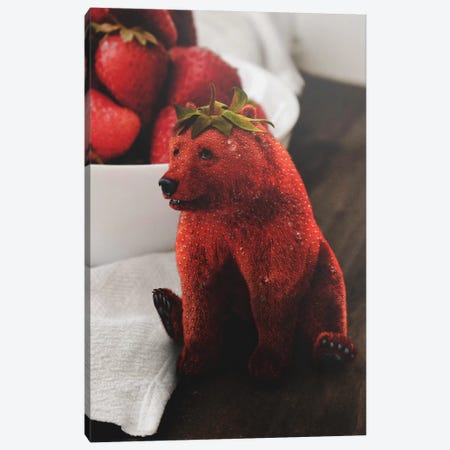 Strawbeary Canvas Print #RYK54} by Shaun Ryken Canvas Art Print