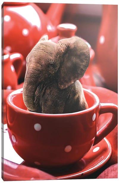 Teacup Elephant Canvas Art Print